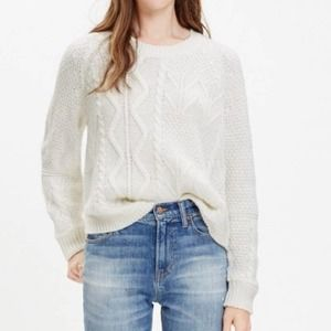 Madewell Block Stitch Cable Sweater Small